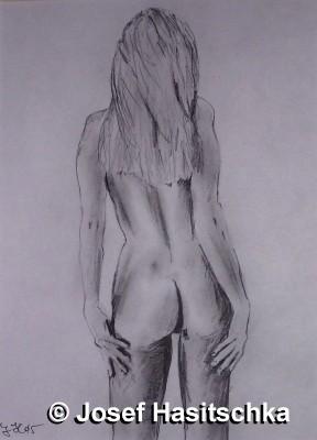 Akt weiblicher Rückenakt