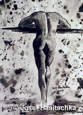 Akt männlicher Rückenakt