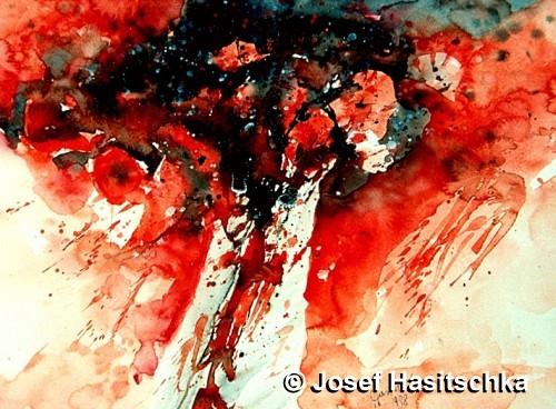 Blumen rot, oder ist da etwa Blut, oder ist da Leidenschaft?