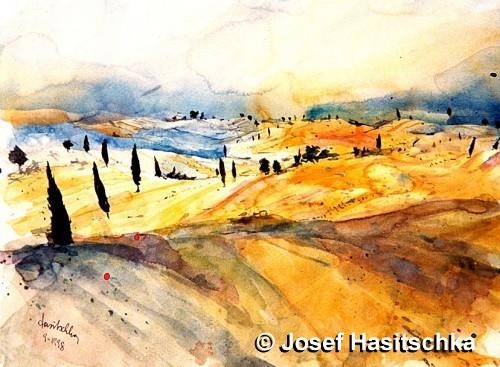 Diese italienische Landschaft will verführen und locken. Alle Facetten sind erahnbar