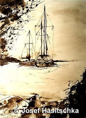 lass uns aufbrechen mit unseren Schiffen und einfach davonsegeln